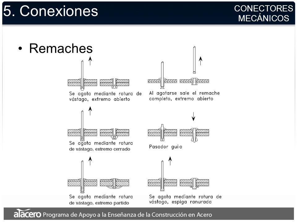 5. Conexiones Remaches CONECTORES MECÁNICOS