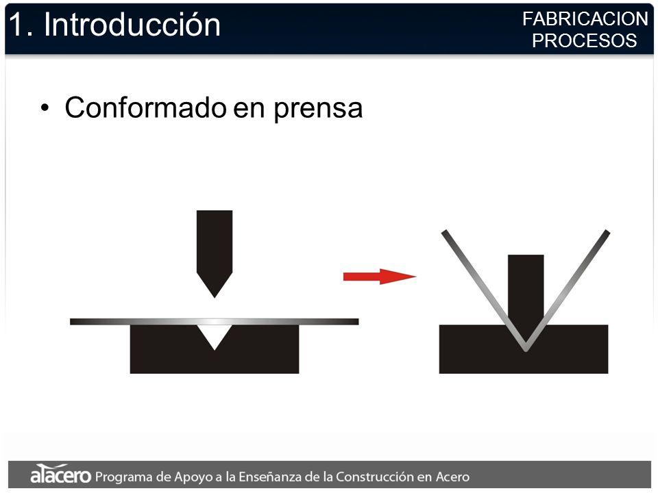 1. Introducción Conformado en prensa FABRICACION PROCESOS
