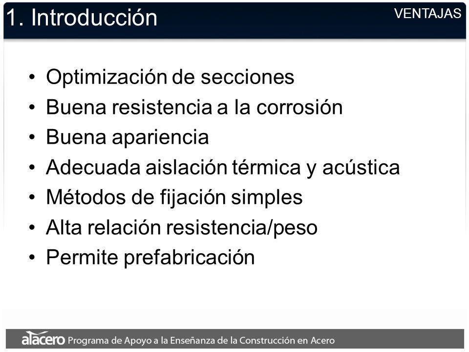 1. Introducción Optimización de secciones