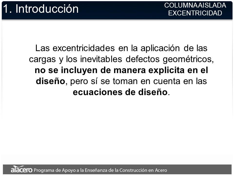 1. IntroducciónCOLUMNA AISLADA. EXCENTRICIDAD.