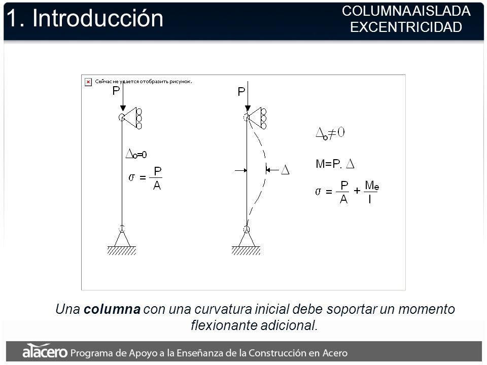 1. Introducción COLUMNA AISLADA EXCENTRICIDAD