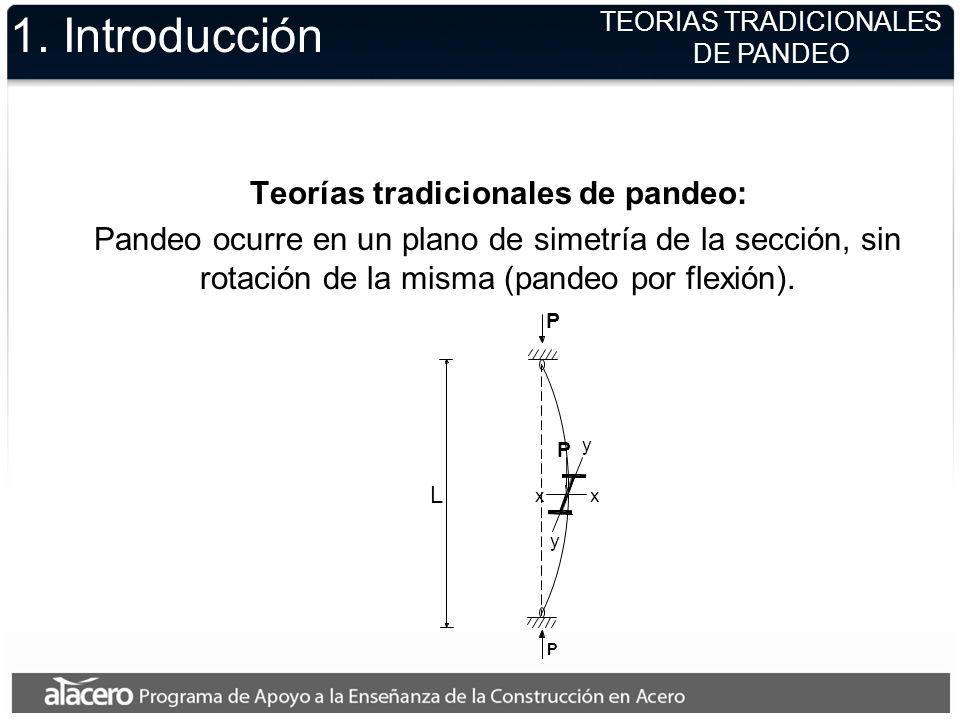 1. Introducción Teorías tradicionales de pandeo: