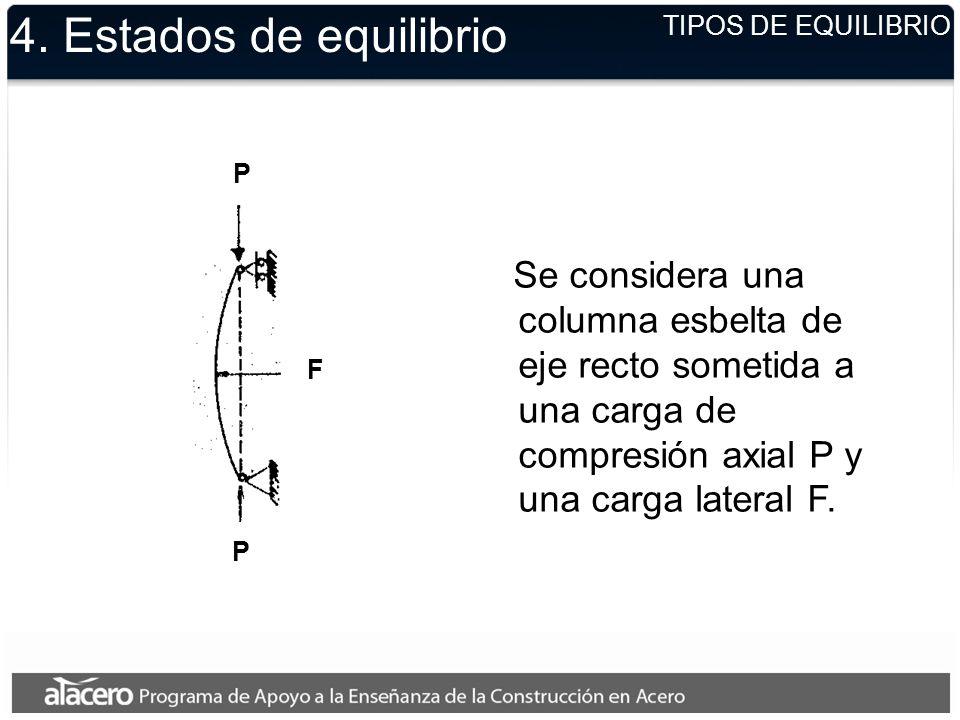 4. Estados de equilibrio TIPOS DE EQUILIBRIO. P.