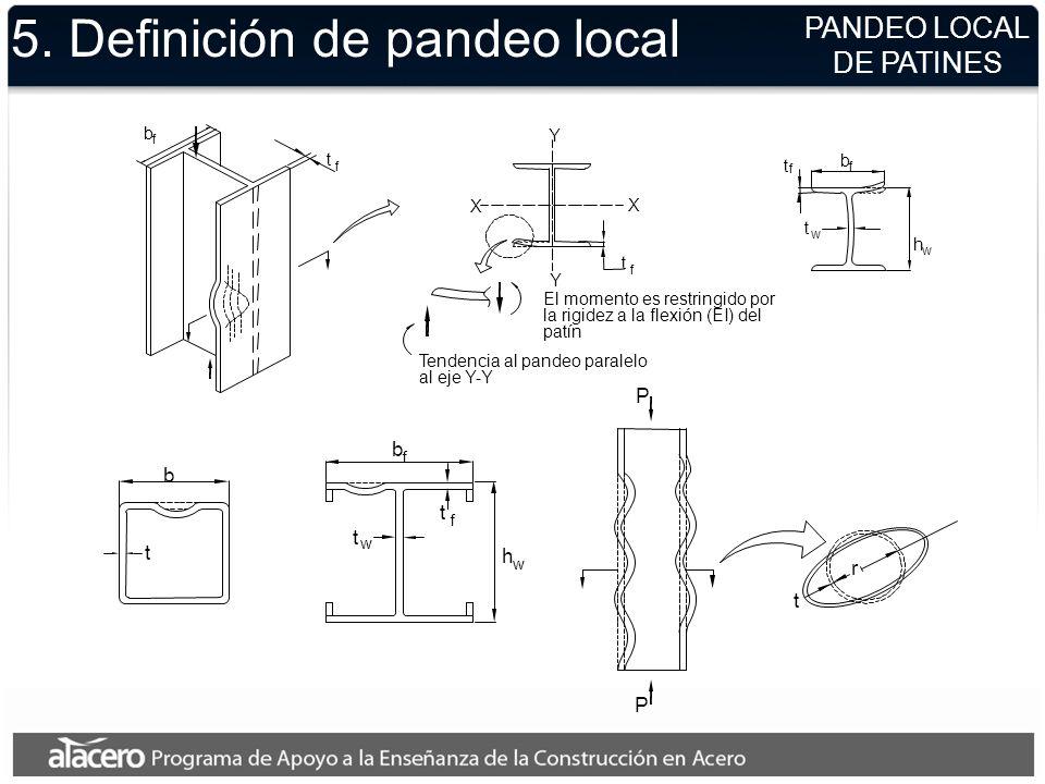 5. Definición de pandeo local