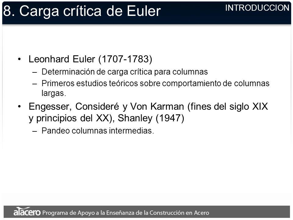 8. Carga crítica de Euler Leonhard Euler (1707-1783)