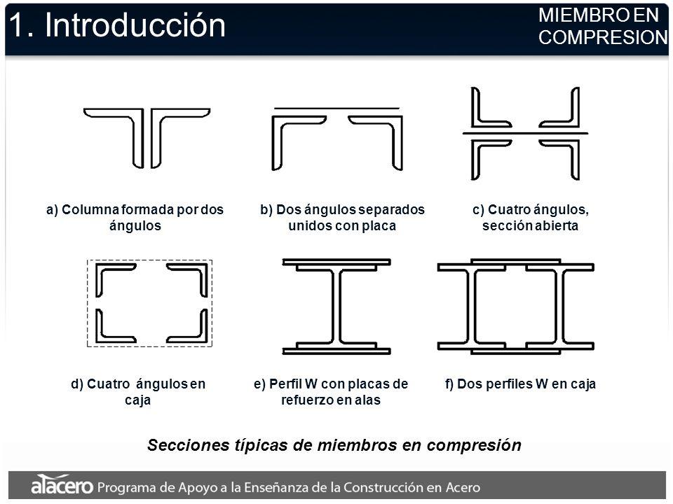 1. Introducción MIEMBRO EN COMPRESION