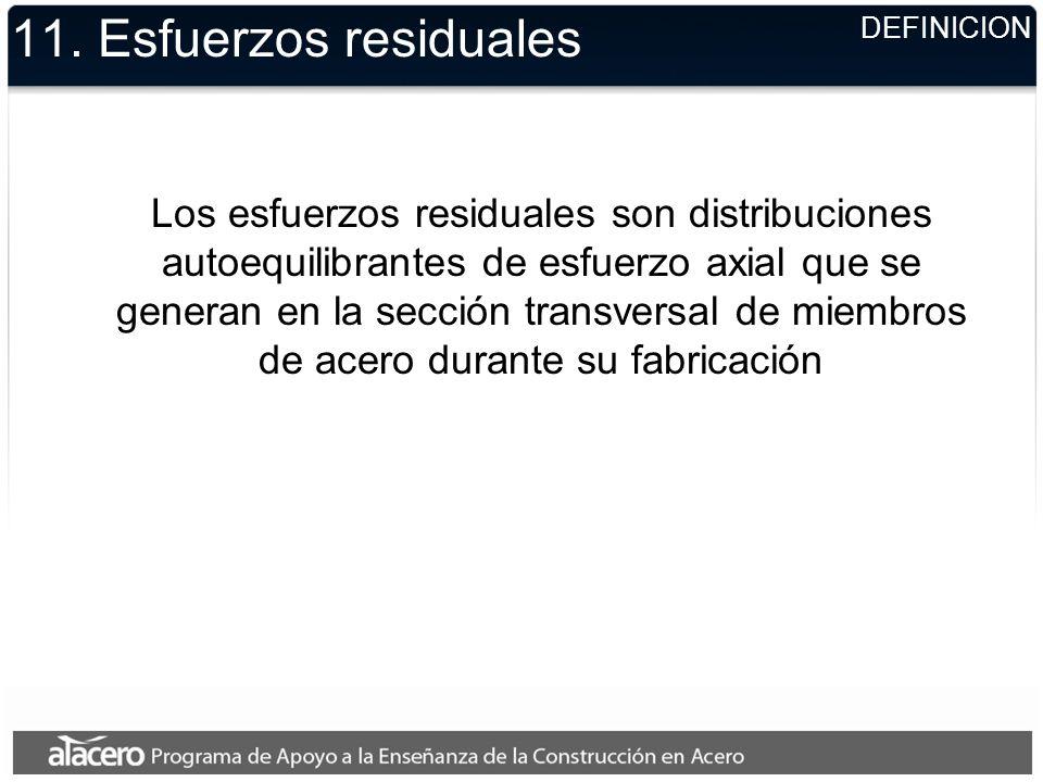 11. Esfuerzos residualesDEFINICION.