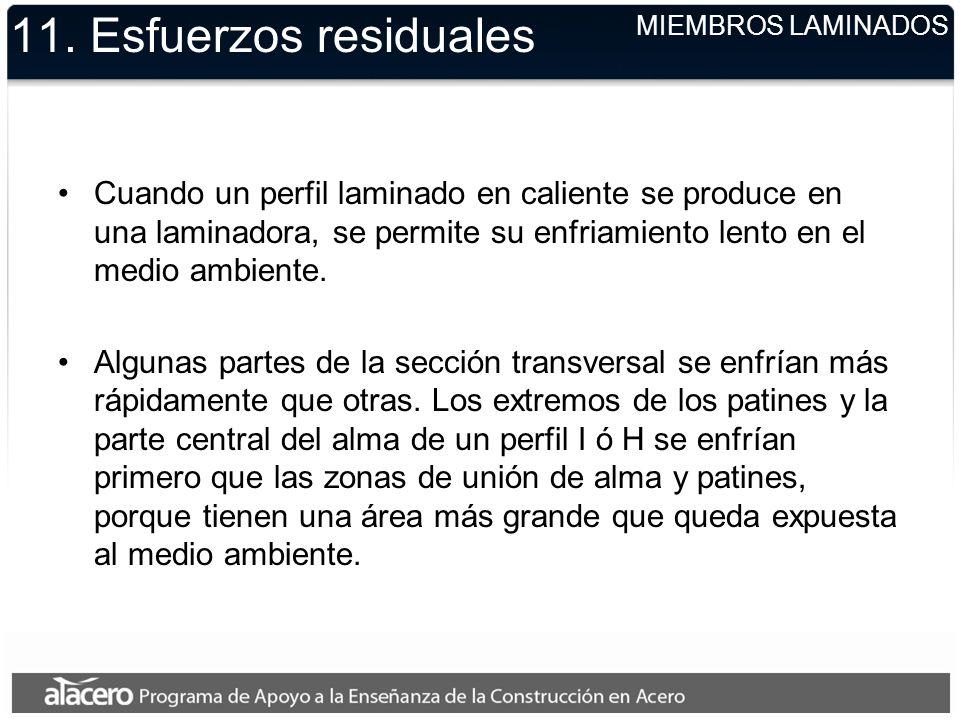 11. Esfuerzos residuales MIEMBROS LAMINADOS.