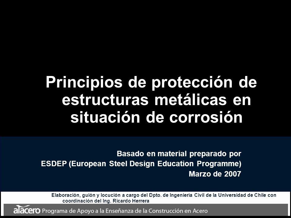 Principios de protección de estructuras metálicas en situación de corrosión