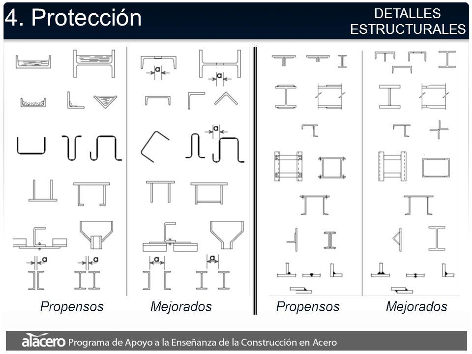 4. Protección DETALLES ESTRUCTURALES Propensos Mejorados Propensos