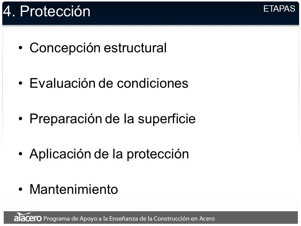 4. Protección Concepción estructural Evaluación de condiciones