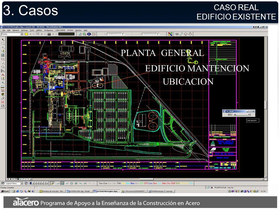 3. Casos PLANTA GENERAL EDIFICIO MANTENCION UBICACION CASO REAL