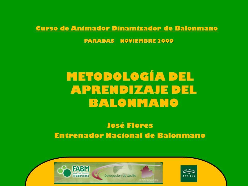 METODOLOGÍA DEL APRENDIZAJE DEL BALONMANO