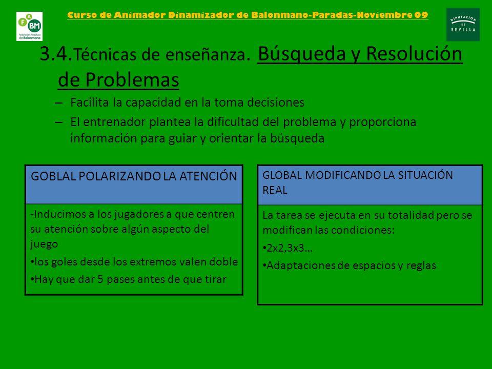 3.4.Técnicas de enseñanza. Búsqueda y Resolución de Problemas