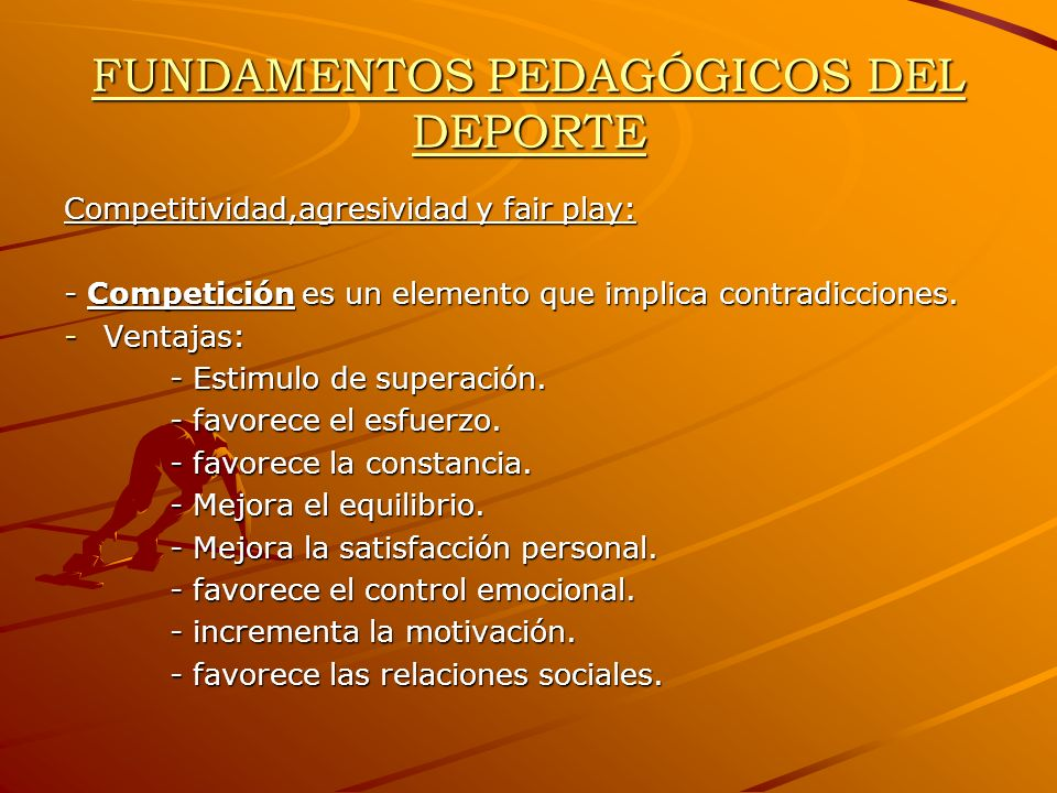 FUNDAMENTOS PEDAGÓGICOS DEL DEPORTE