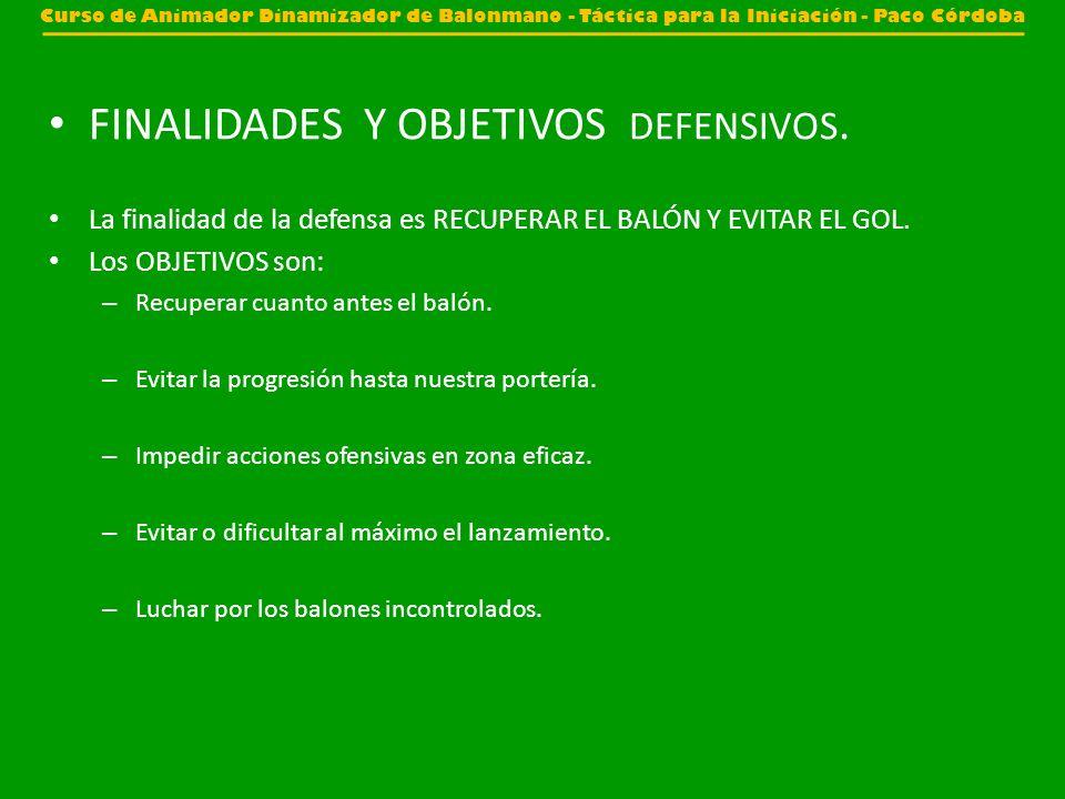 FINALIDADES Y OBJETIVOS DEFENSIVOS.