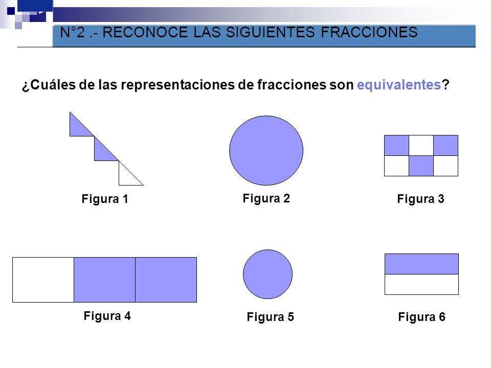 1 N°2 .- RECONOCE LAS SIGUIENTES FRACCIONES