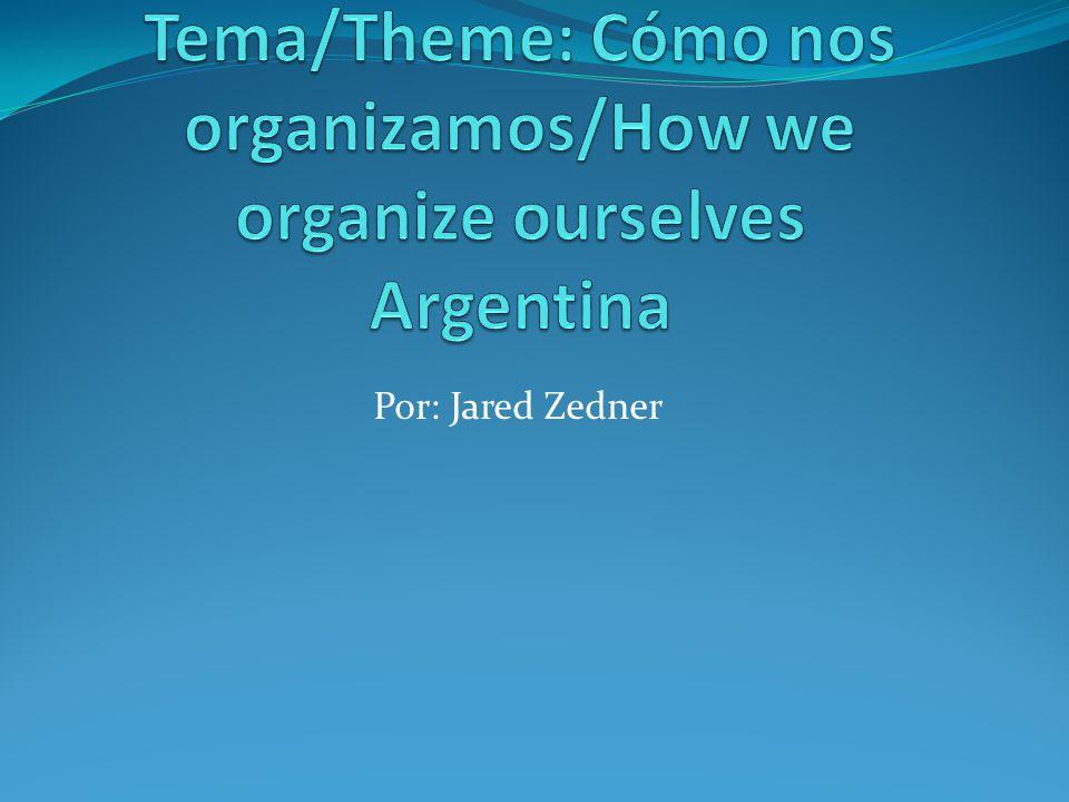 Tema/Theme: Cómo nos organizamos/How we organize ourselves Argentina