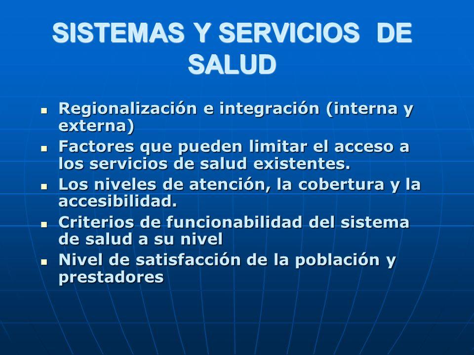 SISTEMAS Y SERVICIOS DE SALUD