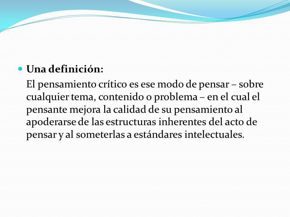Una definición: