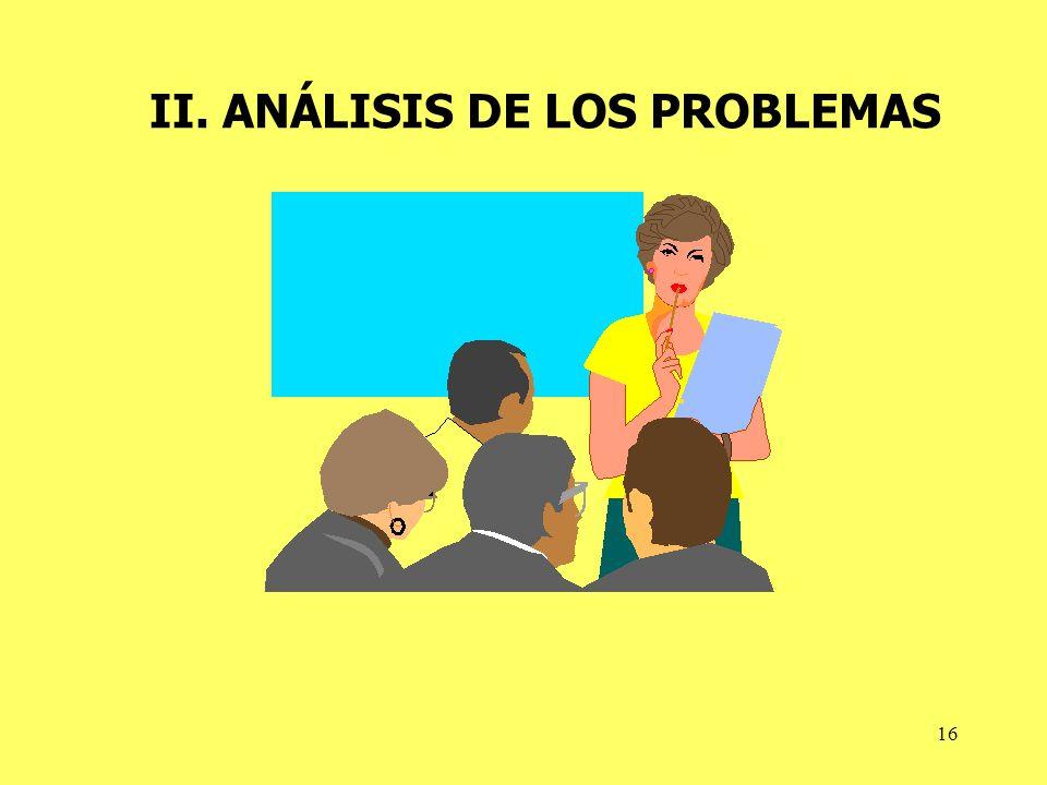 II. ANÁLISIS DE LOS PROBLEMAS