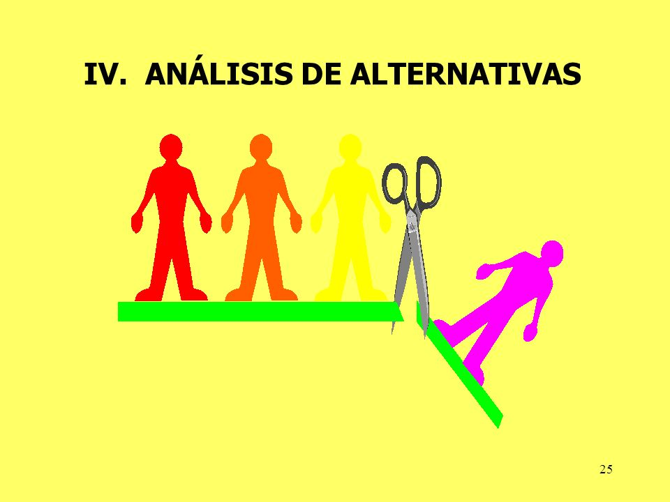 IV. ANÁLISIS DE ALTERNATIVAS