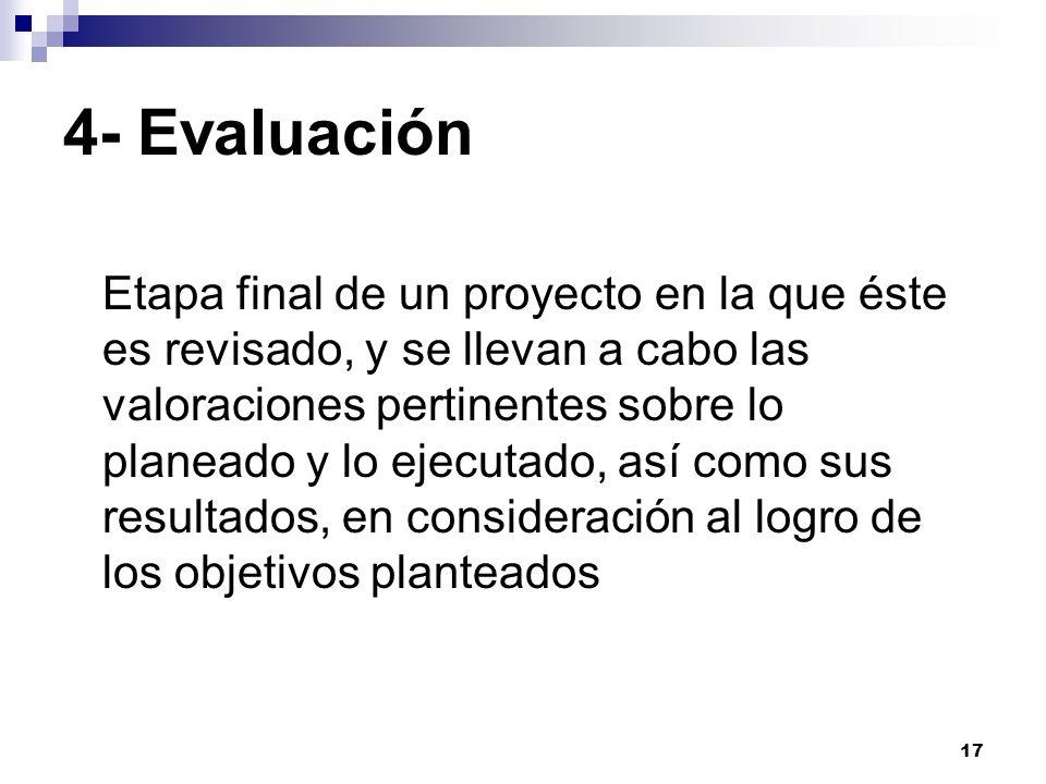 4- Evaluación