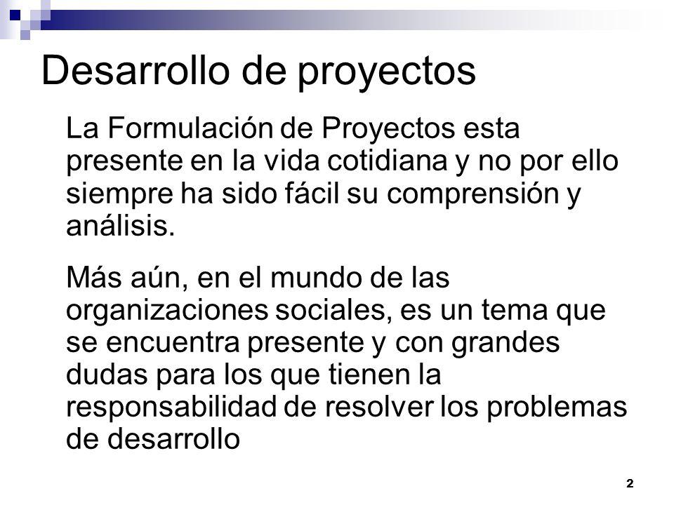 Desarrollo de proyectos