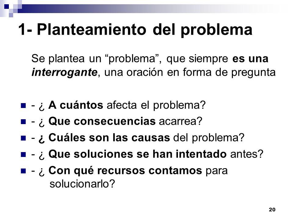 1- Planteamiento del problema