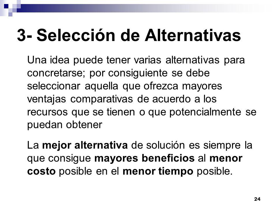 3- Selección de Alternativas