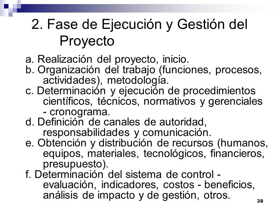 2. Fase de Ejecución y Gestión del Proyecto