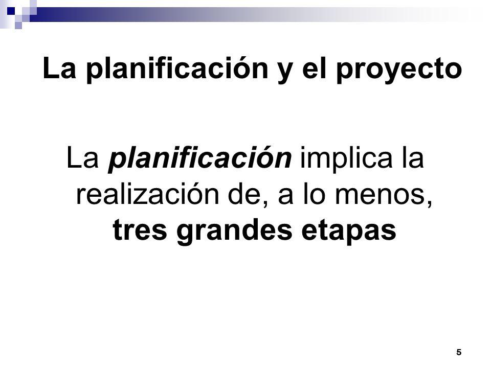 La planificación y el proyecto