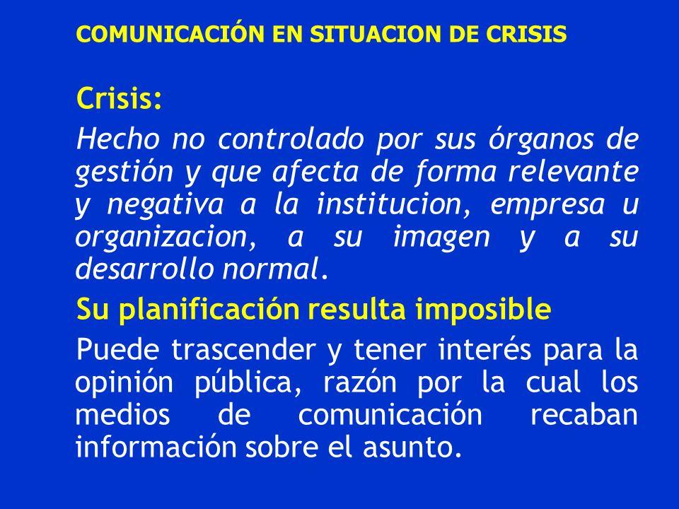 COMUNICACIÓN EN SITUACION DE CRISIS