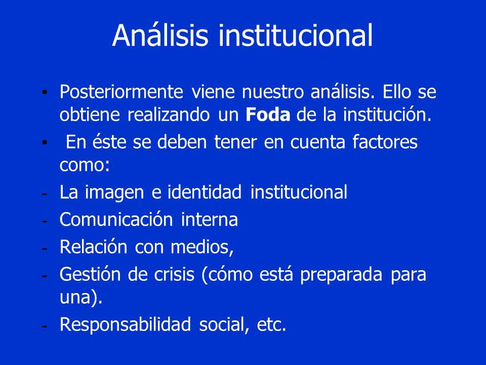 Análisis institucional