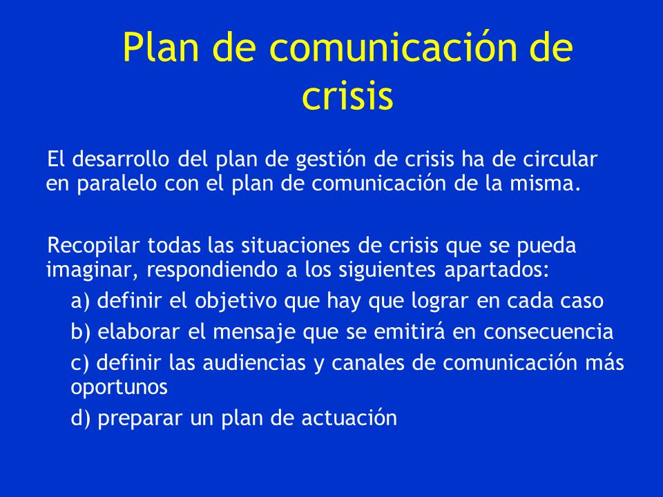 Plan de comunicación de crisis