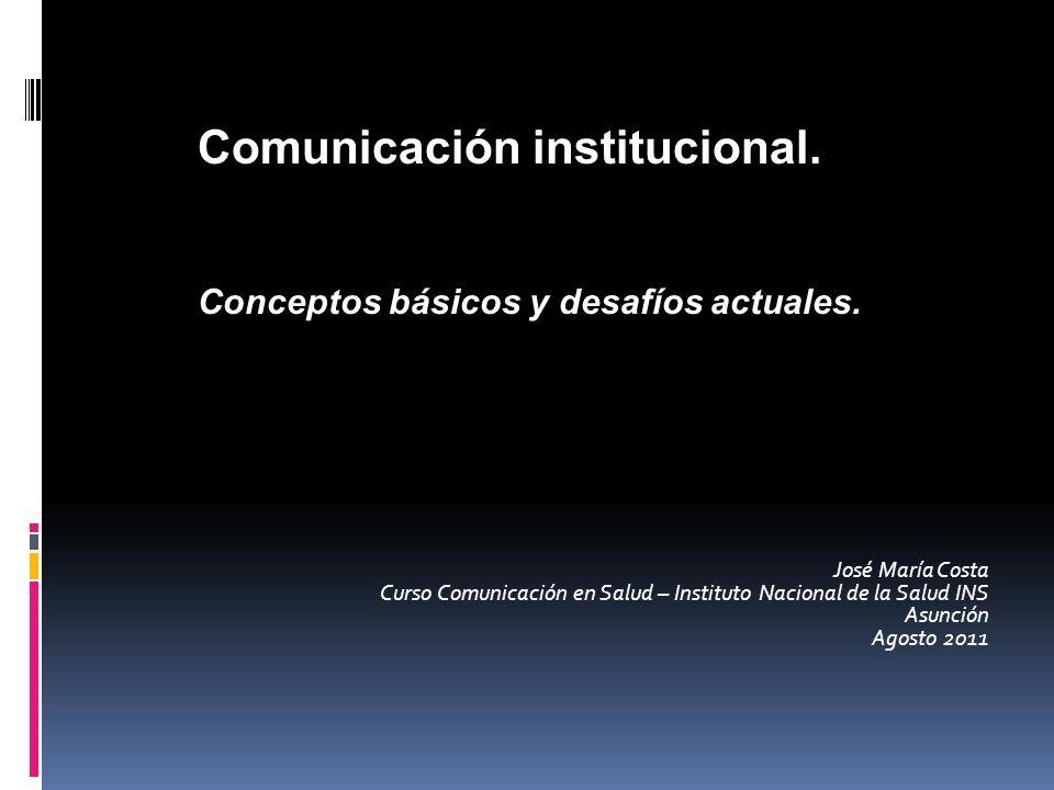 Comunicación institucional.