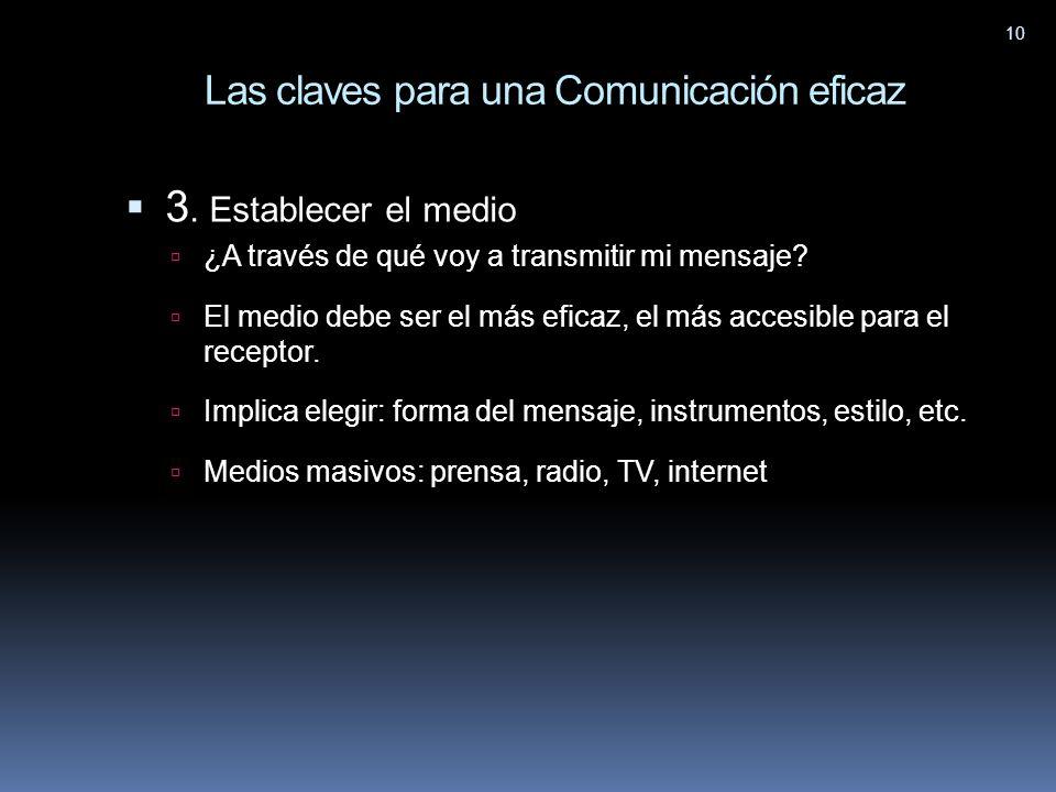 Las claves para una Comunicación eficaz