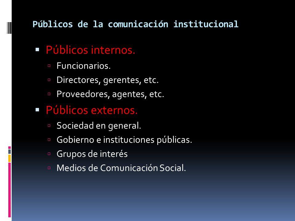 Públicos de la comunicación institucional