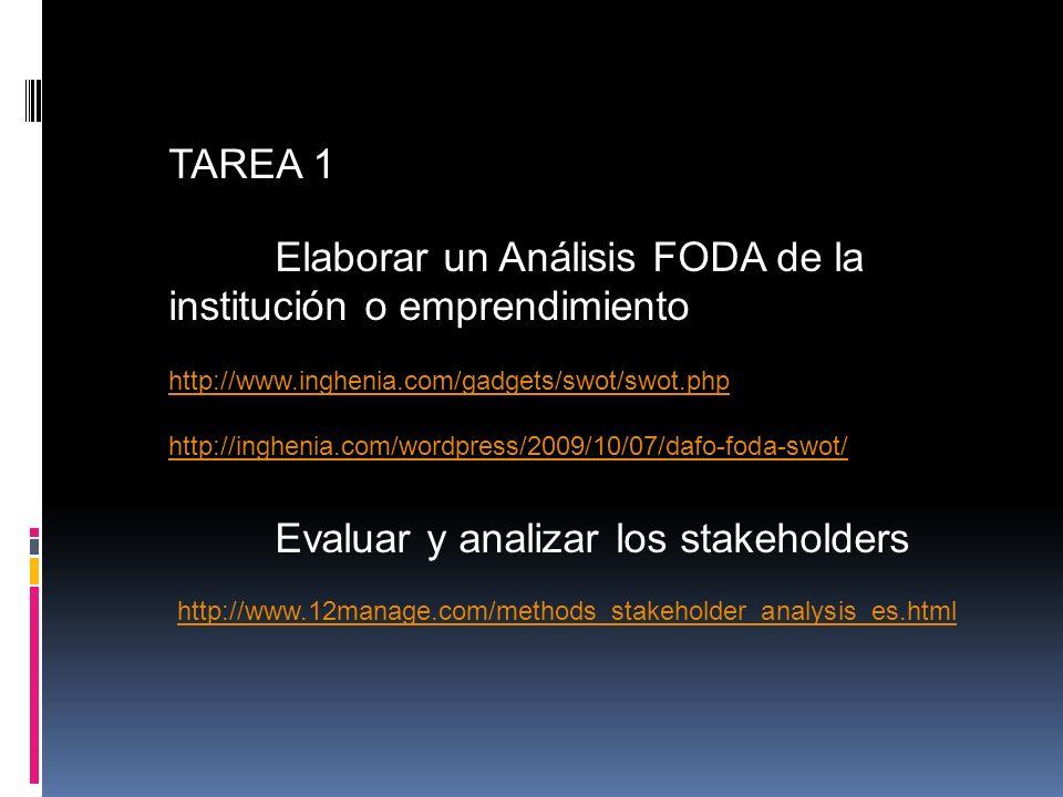 Evaluar y analizar los stakeholders