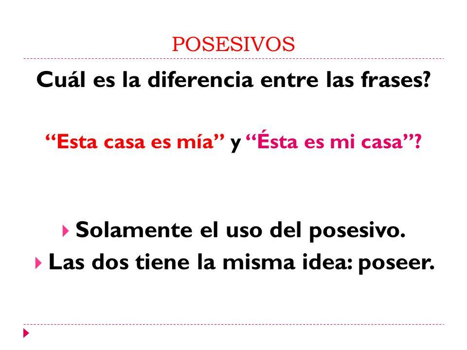 Cuál es la diferencia entre las frases