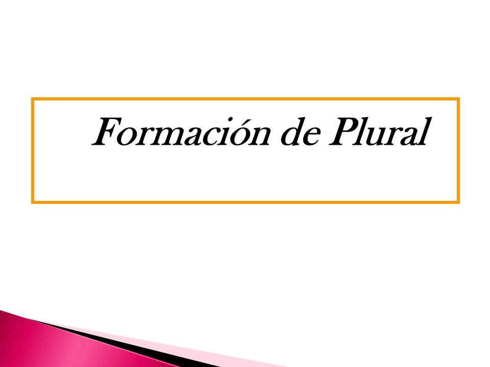 Formación de Plural Click aqui!