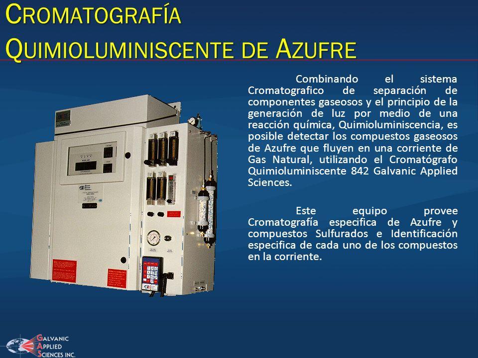 Cromatografía Quimioluminiscente de Azufre