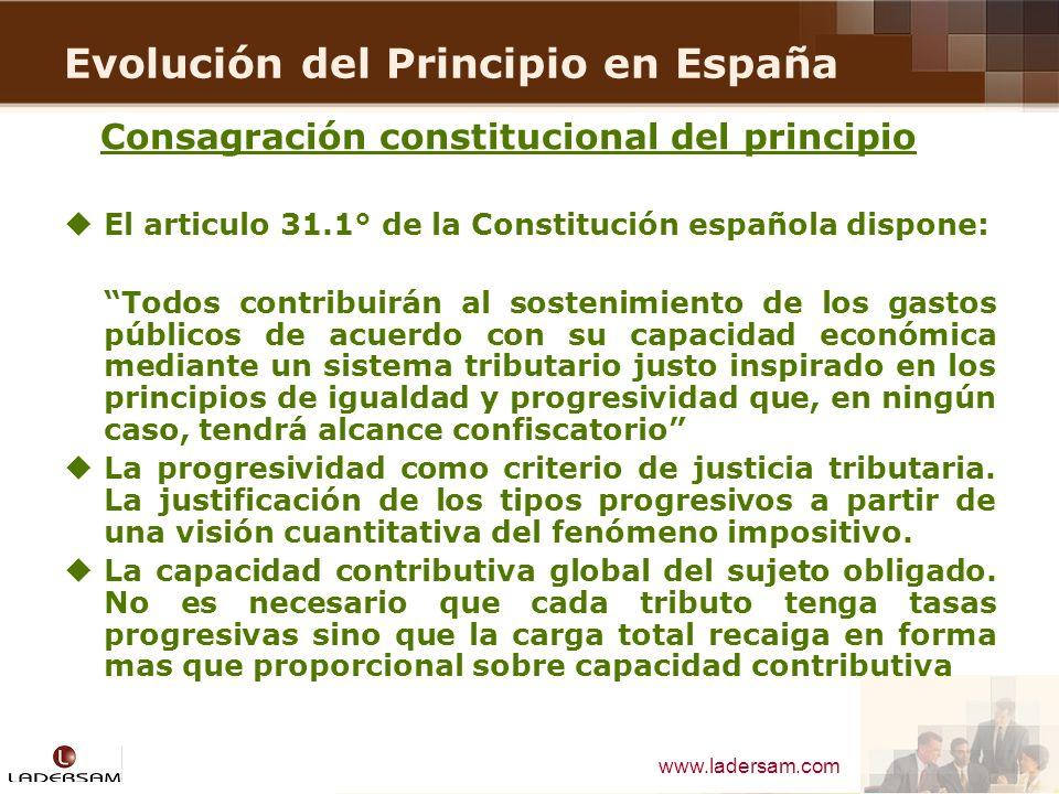 Evolución del Principio en España