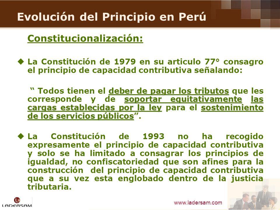 Evolución del Principio en Perú