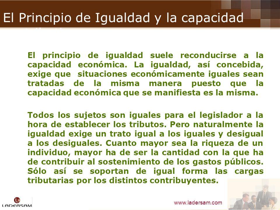 El Principio de Igualdad y la capacidad contributiva
