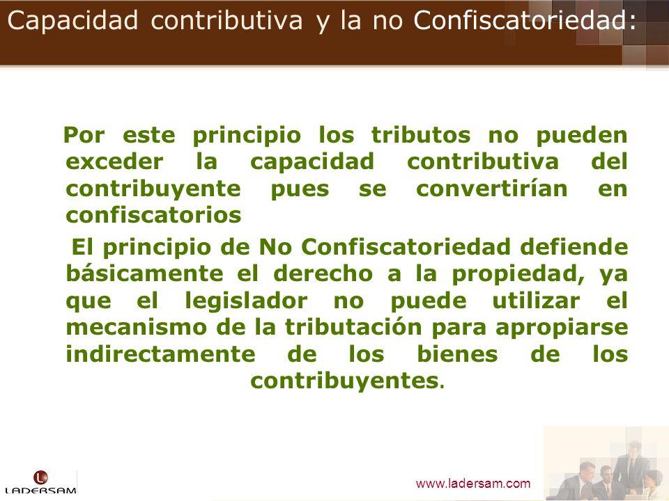 Capacidad contributiva y la no Confiscatoriedad: