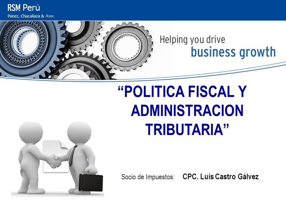 POLITICA FISCAL Y ADMINISTRACION TRIBUTARIA