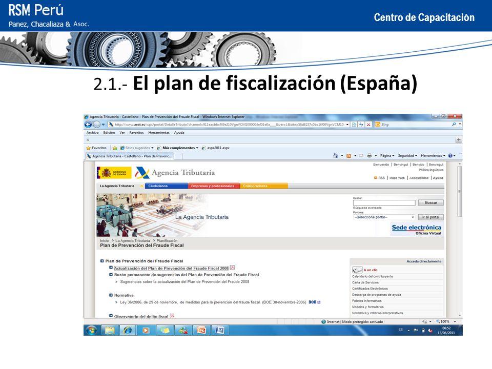 2.1.- El plan de fiscalización (España)