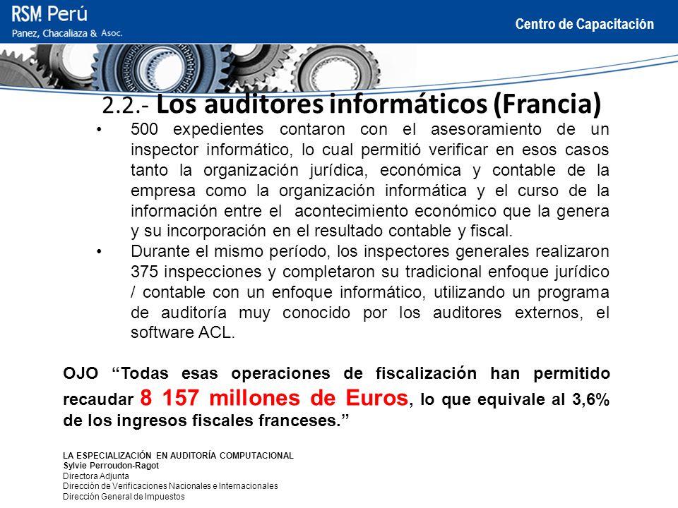 2.2.- Los auditores informáticos (Francia)
