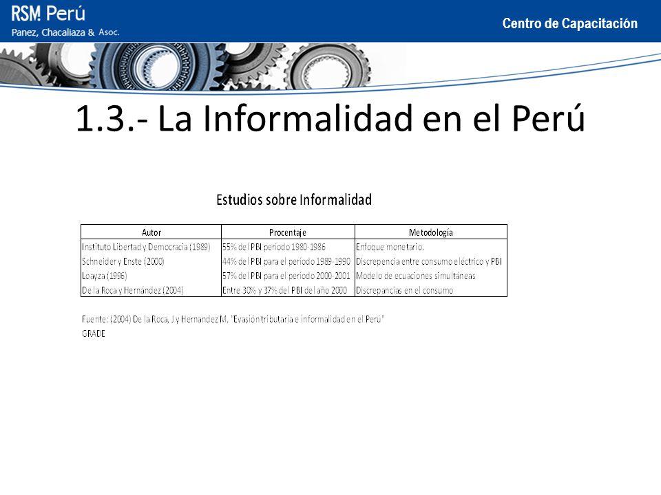 1.3.- La Informalidad en el Perú